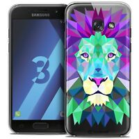 Coque Housse Etui Pour Samsung Galaxy A3 2017 (A320) Polygon Animal Rigide Fin L