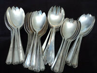 CASSEROLE SPORK / SALAD SPORK Craft Lot of 50 Silverplate Flatware