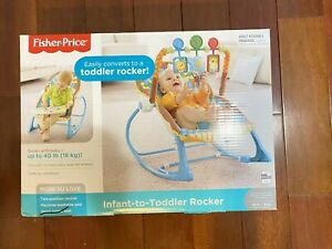 Fisher-Price Infant-to-Toddler Rocker, Reclines, Calming Vibrations, Jungle Fun