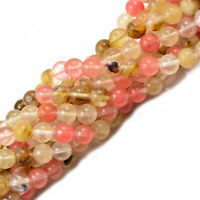10mm Tourmaline Gemstone Round Loose Beads DIY Jewelry Watermelon 15''