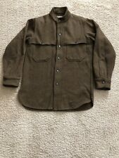 Vintage Woolrich 1960s Brown Shirt Jacket Wool Mens Size Small