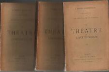J.Barbey d'Aurevilly.Le Théatre Contemporain.3 volumes.Edition originale