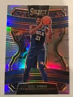 Joel Embiid 2019-20 Panini Select Silver Concourse Prizm Refractor 76ers #111