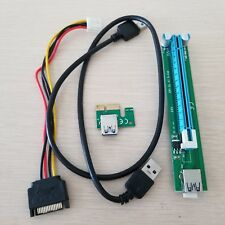 PCI PCI-E Express1X 16X riser cable with USB3.0 data SATA power supply for BTC