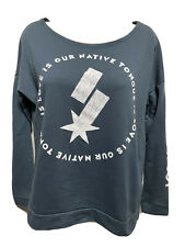 Next Level Apparel Junior Med Long Sleeve Sweatshirt Love Is Our Native Tongue