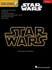 Star Wars Sheet Music Easy Piano Play-Along Book and Audio NEW 000110283
