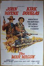 "THE WAR WAGON (1967) - original UK 60""x40"" movie poster, John Wayne, western"