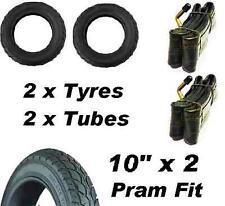 "2 X Pram Neumáticos y 2 x tubos de 10"" X 2 Quinny Buzz Speedi Huack Roadster 10"""
