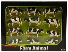 Kids Globe Pack Of 12 Cows Lying And Standing - 1:32 Scale