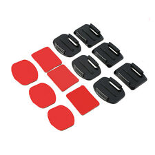 12Pcs Helmet Accessories Flat Curved Adhesive Mount For Gopro Hero 1/2/3 /3+ JK