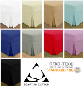 Extra Deep Fitted Valance Bed Sheet 100% Egyptian Cotton Single Double King Size