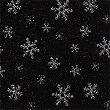 Black Acrylic Snowflake Felt Fabric
