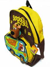Scooby Doo Brown Backpack Bookbag Kid Boy School Shoulder Bag #Van