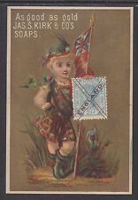 Great Britain, mint. Early Multicolor Advertising Card for Soap, Stamp Facsimile