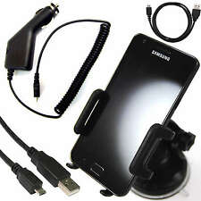 WINDSCREEN MOUNT HOLDER+IN CAR CHARGER+USB DATA CABLE FOR NOKIA LUMIA 800