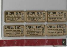 Vintage Lot Special Days tickets  Dorney Park Pa. FREE SHIPPING