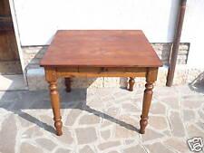 Splendido Tavolo Tavolino Ciliegio e Olmo Emilia 101x96 cm Restaurato in Patina