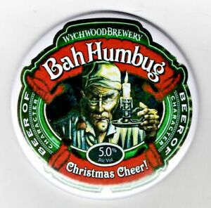 "Bah Humbug Jumbo Fridge Magnet Beer Mat Bar   3"" 75mm  Blade  Sub Badge Xmas"
