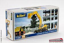 KIBRI 11261 - H0 1:87 - Mezzo da cantiere scavatore con carello e ruote Liebherr