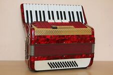 Scandalli Vintage LMM Accordion 48 bass Akkordeon Fisarmonica Red