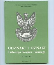 WW2 Badges and Signs of the Polish People's Army LWP - rare catalogue Poland