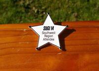 "SUGI 14 Southwest Region Attendee Plastic Star 2 3/4"" Lapel Pin Pinback Button"