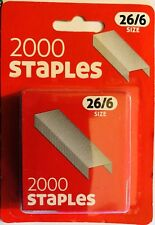 STAPLES SIZE NO.56 (26/6) 1 BOX OF 2000 COUNTYSTATIONERY FAST SAME DAY DISPATCH