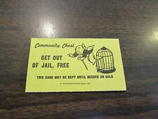 Get Out of Jail Free - Monopoly Community Chest Game Card