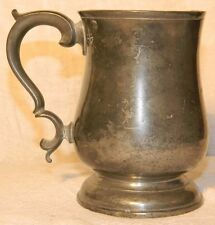 BADA CERTIFIED ANTIQUE W & S LONDON PEWTER PINT TANKARD TAVERN MEASURE