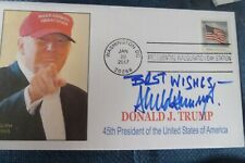 More details for ex-usa president donald trump hand signed inauguration day first day cover