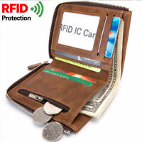 Portefeuille Homme carte de crédit titulaire marron Porte-Cartes RFID Blocage FR