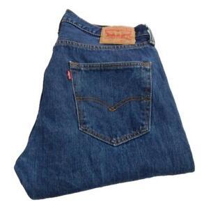 Mens Levi Strauss 501 Straight Leg Jeans Waist 34 Leg 30 Button Fly (P3595)
