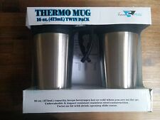 Brand New Travel Mates Thermo Insulated Stainless Travel Mug, 16oz Twin Pack