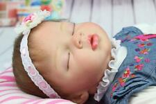 "Realistic Handmade Reborn Baby Dolls 22"" Girl Newborn Gifts Lifelike Soft Vinyl"