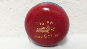 "NOS 1956 Chevrolet Dealer Promotional Yo-Yo ""The '56 Has Got It!"" Blue Red Gold"