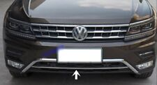VW Tiguan II 2 2016Up Chrome Front Bumper Streamer 1Pieces Stainless Steel