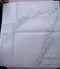 "1972 Canadá Golfo St Lawrence Terranova mapa gráfico de 40"" X 37"" C64"
