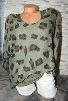 Italy Pullover Vintage Gr.36 38 40 42 Top Leo 2 tlg. Pulli Khaki blogger NEU