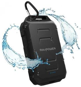 RAVPower Xtreme Series Waterproof Portable Charger 10050mAh Power Bank Rugged