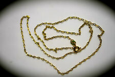 jem: 18k SOLID SAUDI GOLD THIN NECKLACE 20 inches not 14k - PAWNABLE