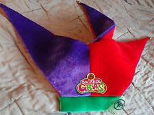 Bacardi Rum - Jester Hat with Bells - Green/Red/Purple - Bacardi Mardi Gras  NEW