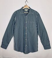 Banana Republic Slim Fit Long Sleeve Button Front Men's Dress Shirt Size Large