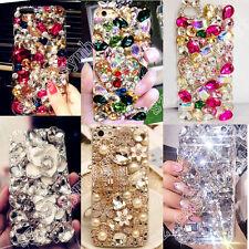 Rhinestone Diamond Bling Jewelled Crystal 3D Acrylic Phone Case Cover Girl Shell