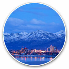 2 x Vinyl Stickers 30cm - Anchorage Alaska Mountains Cool Gift #3037