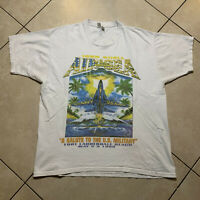 Vintage 1998 Shell Air And Sea Show Graphic T-Shirt XL VTG Military Navy USA