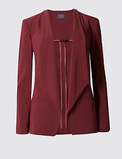 MARKS & SPENCER CLARET WATERFALL  JACKET,8,10,12,14,16,18 & 20 CLEARANCE  RRP£55