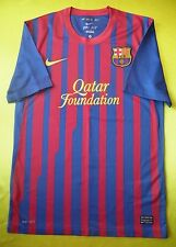 5/5 SIZE S BARCELONA 2011~2012 ORIGINAL SOCCER FOOTBALL SHIRT JERSEY HOME NIKE