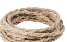 Linen ROPE LOOK ~ Two Wire Twisted Lamp Cord ~ Price Per Foot