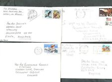 USA 1989,  4 Commercial Covers #C47963