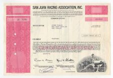 San Juan Racing Association Stock Certificate
